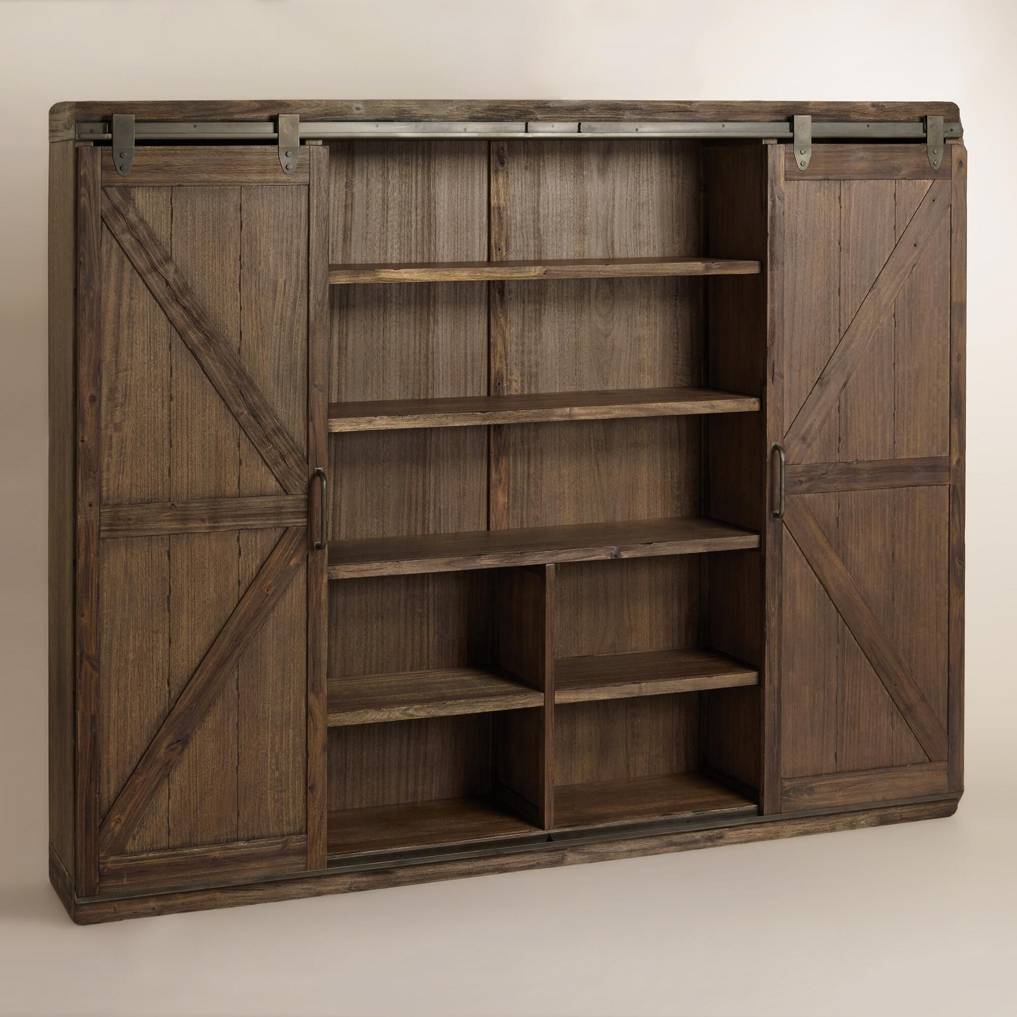 Sliding Doors The Book: Wood Farmhouse Barn Door Bookcase