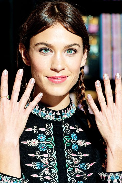 Alexa Chung attends a photocall to launch Nails Inc: The Alexa...