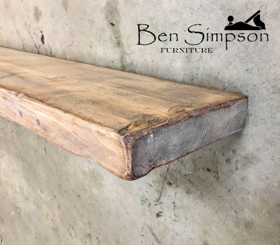 Schwebende Regale shabby chic floating shelves shelf mantel chunky wooden rustic