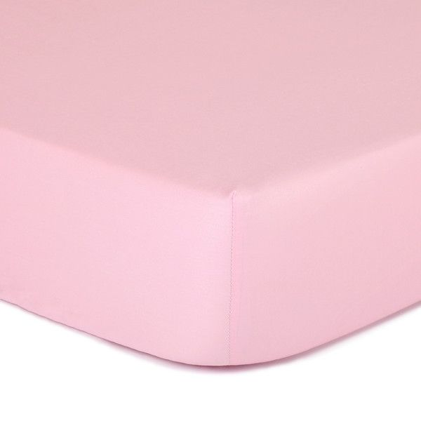 Gia Solid Coral Pink Cotton Baby Girl Fitted Crib Sheet Toddler