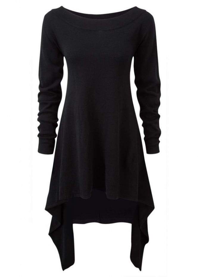 Killstar After Effect Knit Dress Black | Attitude Clothing