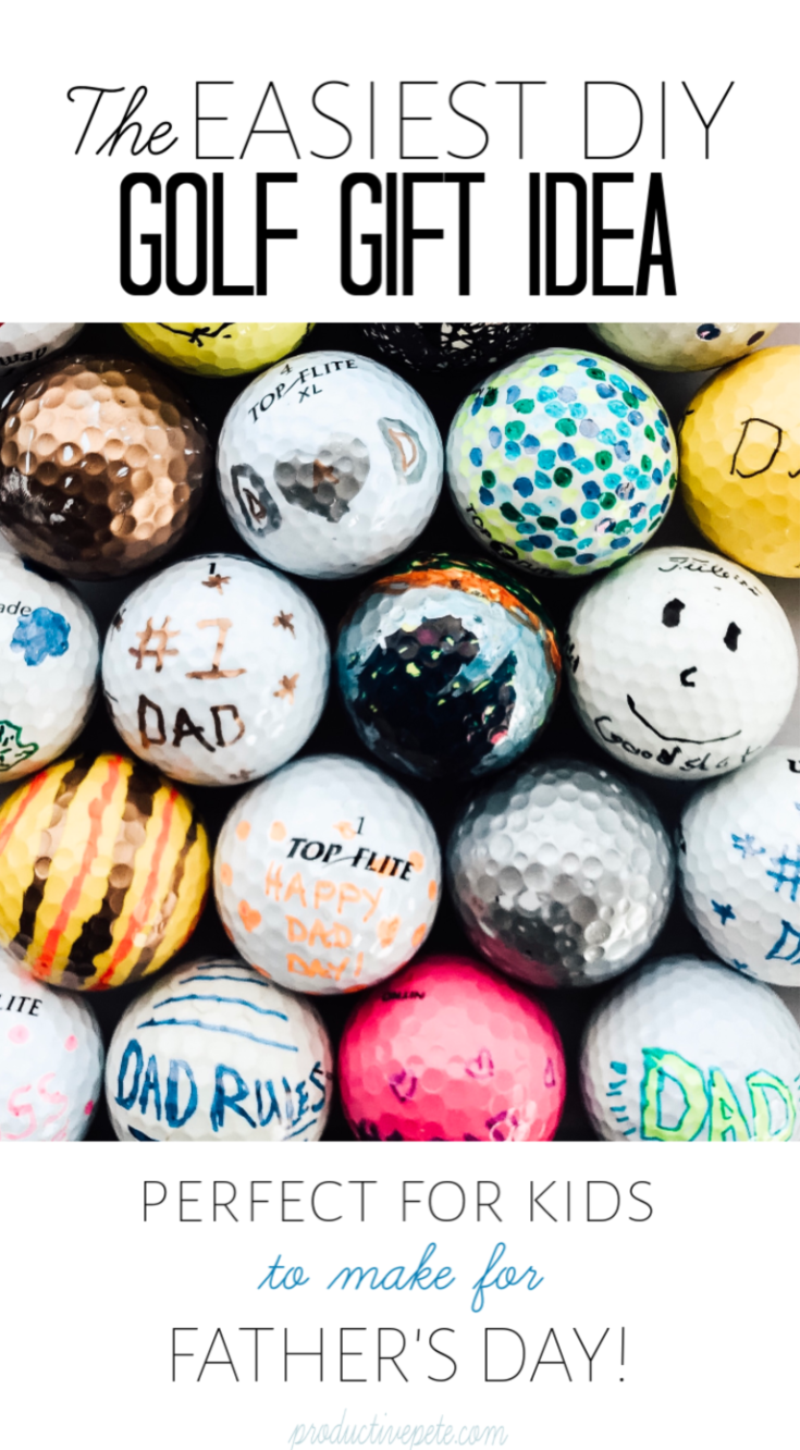 The Easiest DIY Golf Gift Idea for the Golf Fan in your Life #grandpagifts