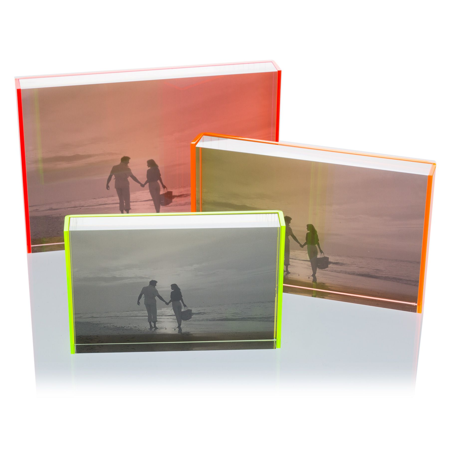 Neon Acrylic Frames Photoframes Acrylic Framing Shadow