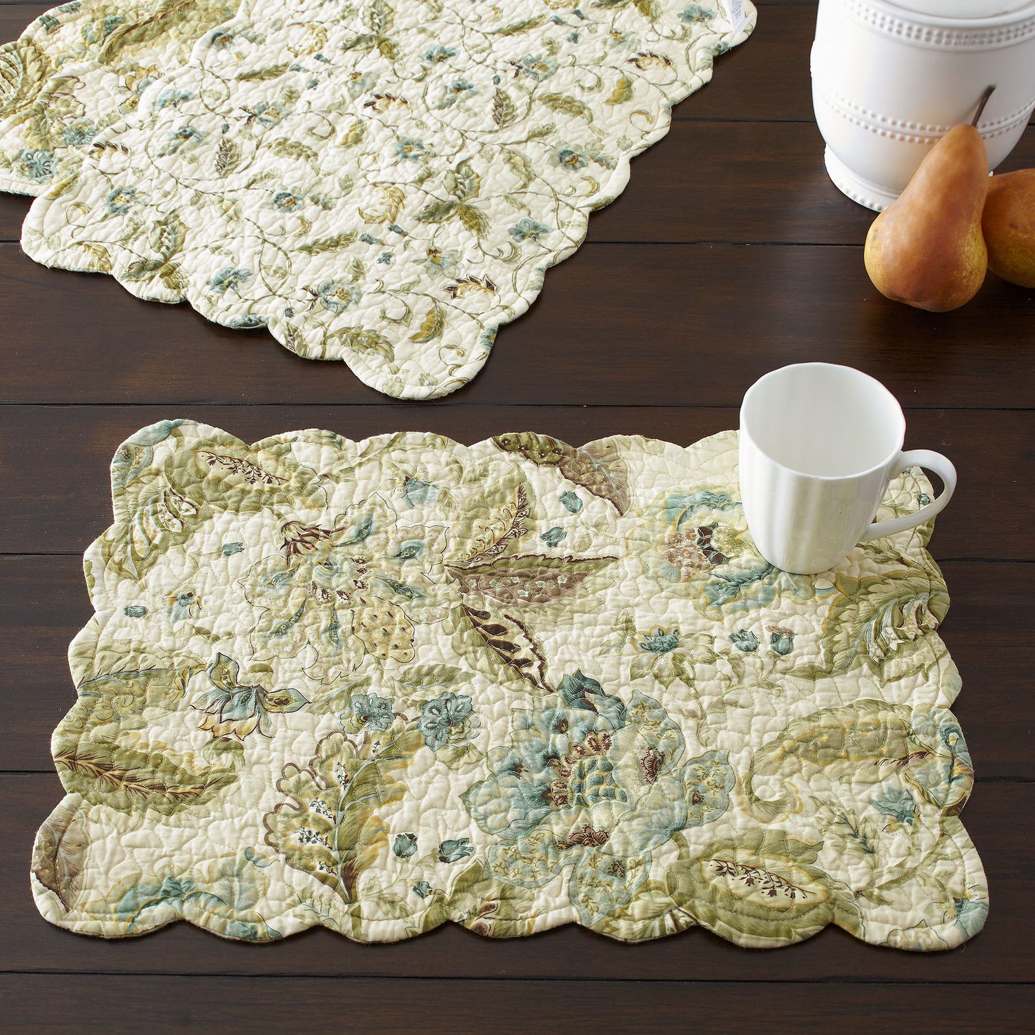 Virginia placemat traditional elegance is on display with the virginia placemat traditional elegance is on display with the floral pattern and scalloped edges of bankloansurffo Image collections