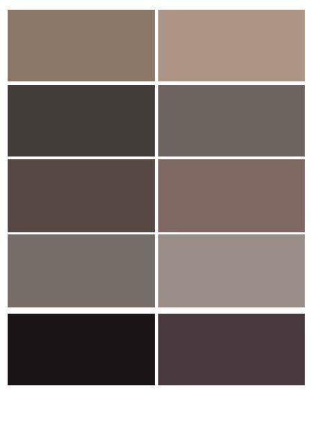 Esta paleta de colores marron ocres beige puede ser - Paleta de colores para paredes ...