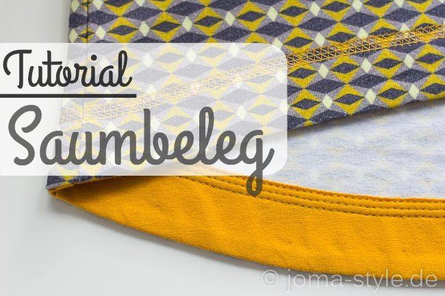 Saumbeleg-Tutorial | tips nähen | Pinterest