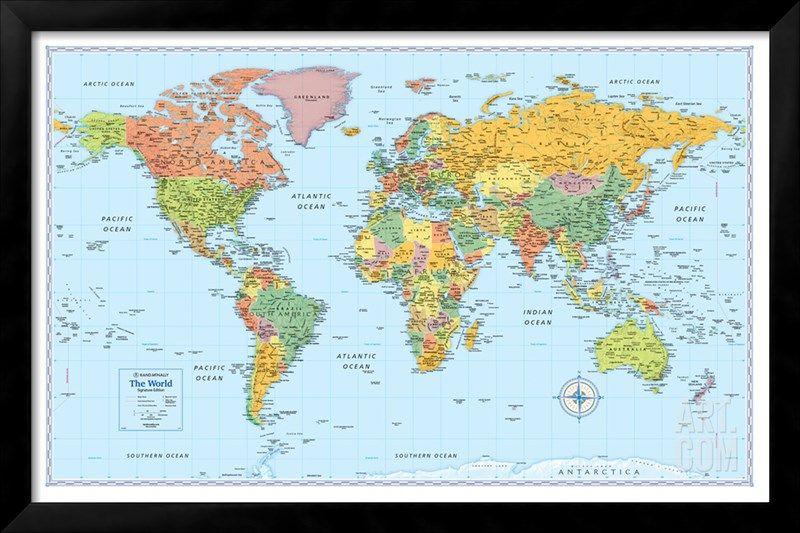 Rand Mcnally Signature World Map Giant Poster At Art Co Uk Mapa