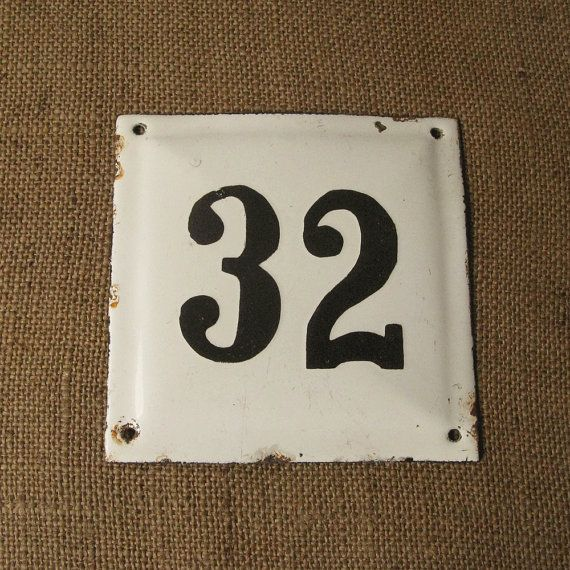 Vintage House Number Plaque Wall Decor Outdoor Decoration Front Door Enamel Door Number Outdoor House Plaque Home Numbers Vintage House Numbers House Numbers House Number Plaque