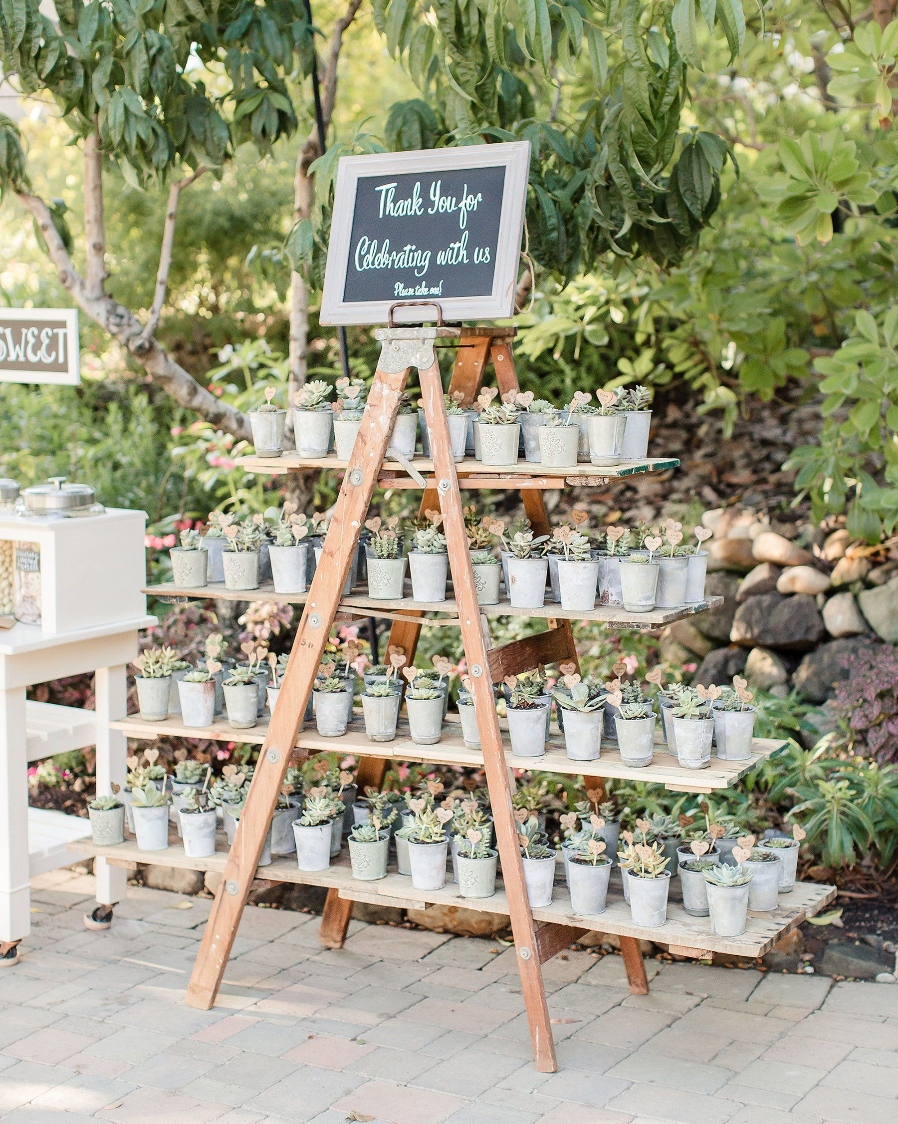 28 Unique Ways to Display Your Wedding Favors