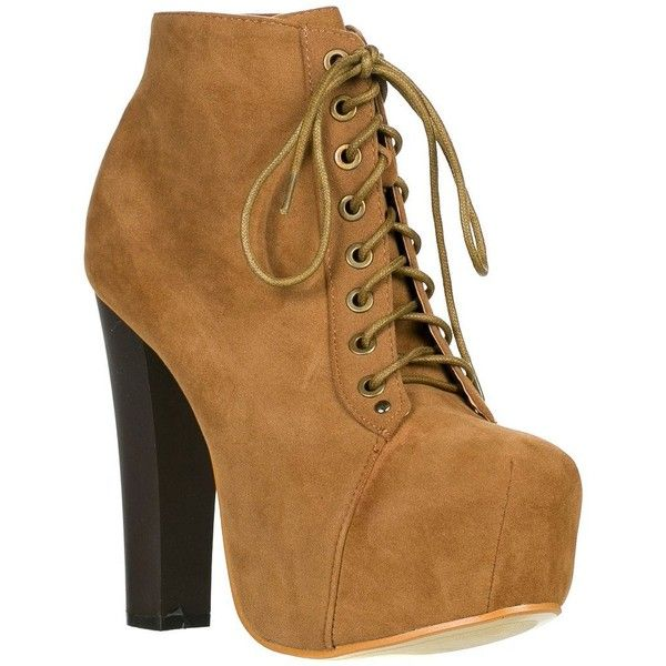 c8082d9d843e Speed Limit 98 Womens Rosa Chunky High Heel Lace Up Ankle Boot Bootie ( 20)