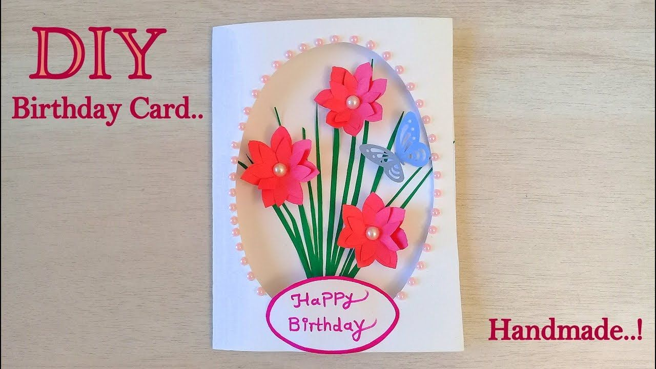 beautiful birthday card diy handmade card for birthday
