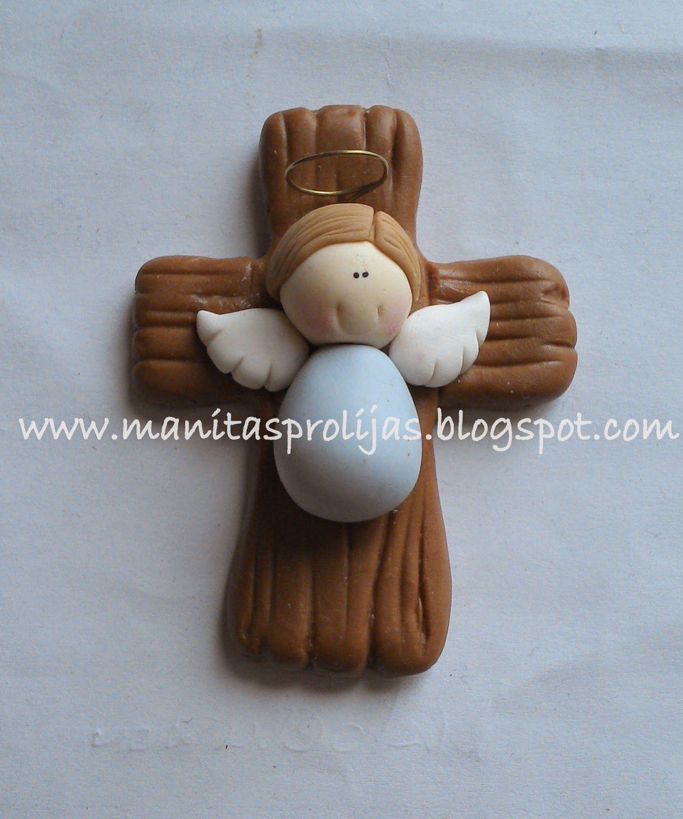 Este recuerdo fue realizado para otro bautizo. Son imanes que pueden  perfectamente colocarse en el  Modelling ClayClay CraftsIdeas ...