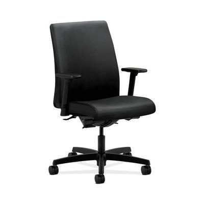 HON Ignition Mid-Back Desk Chair Upholstery: Black, Seat Mechanism: Center Tilt