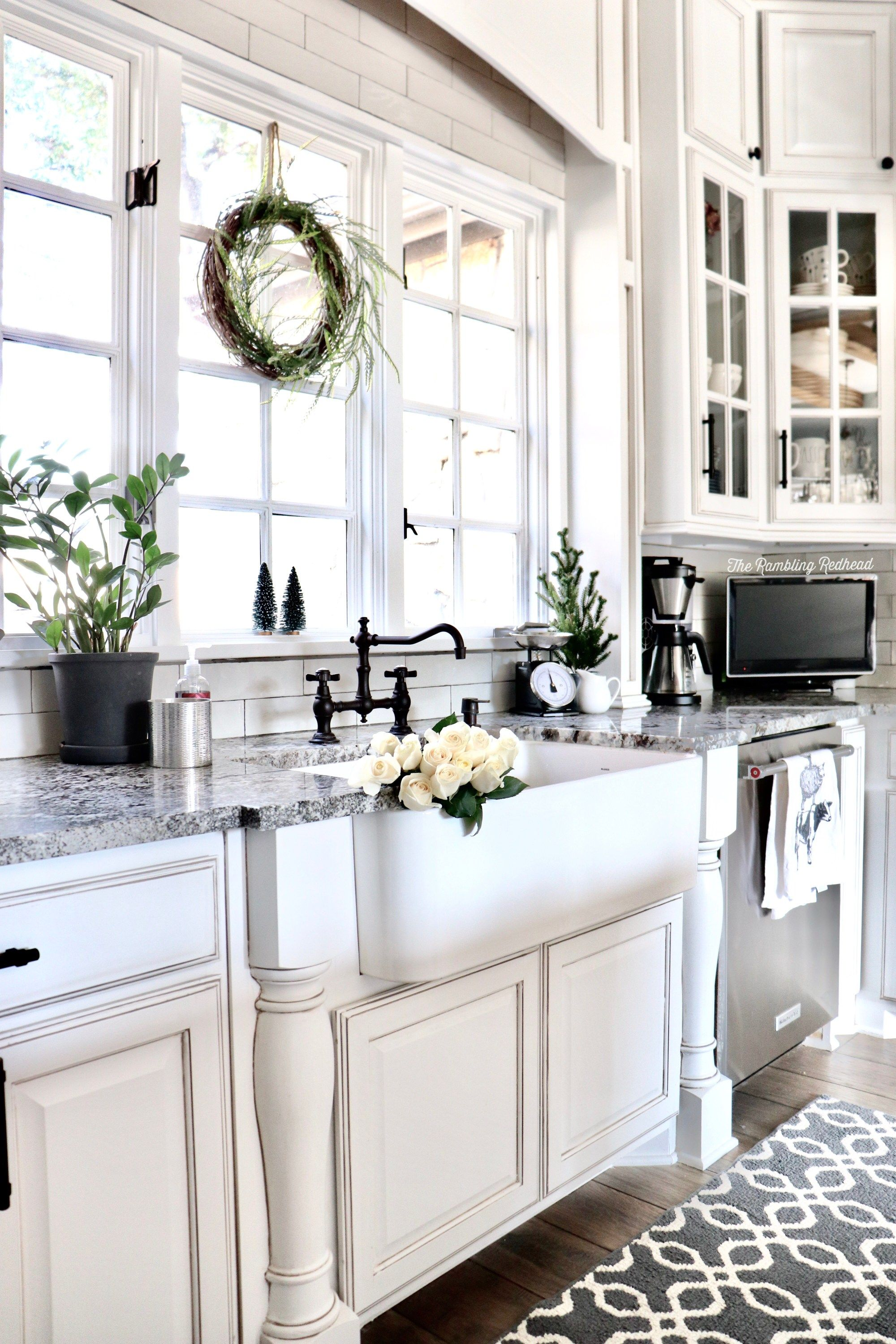 cozy farmhouse christmas home tour with a little rustic tossed in too home kitchens rustic on farmhouse kitchen xmas id=97330