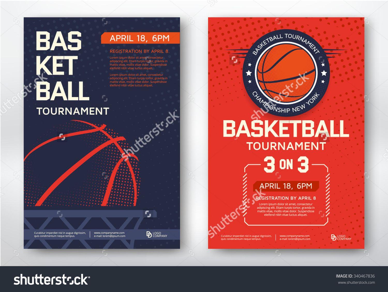 Basketball Tournament, Modern Sports Posters Design. Vector ...