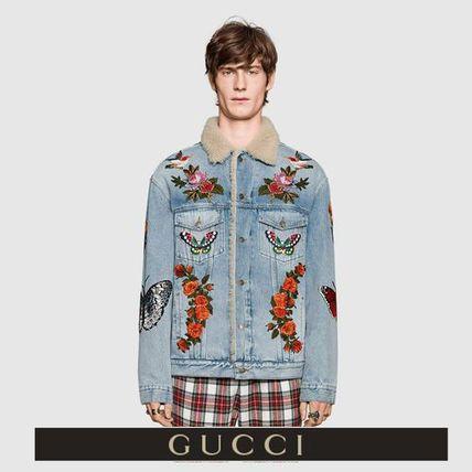 9a9cf476f549 GUCCI ジャケットその他 GUCCI Gジャンのハードさ&刺繍の繊細さを愉しむ ...