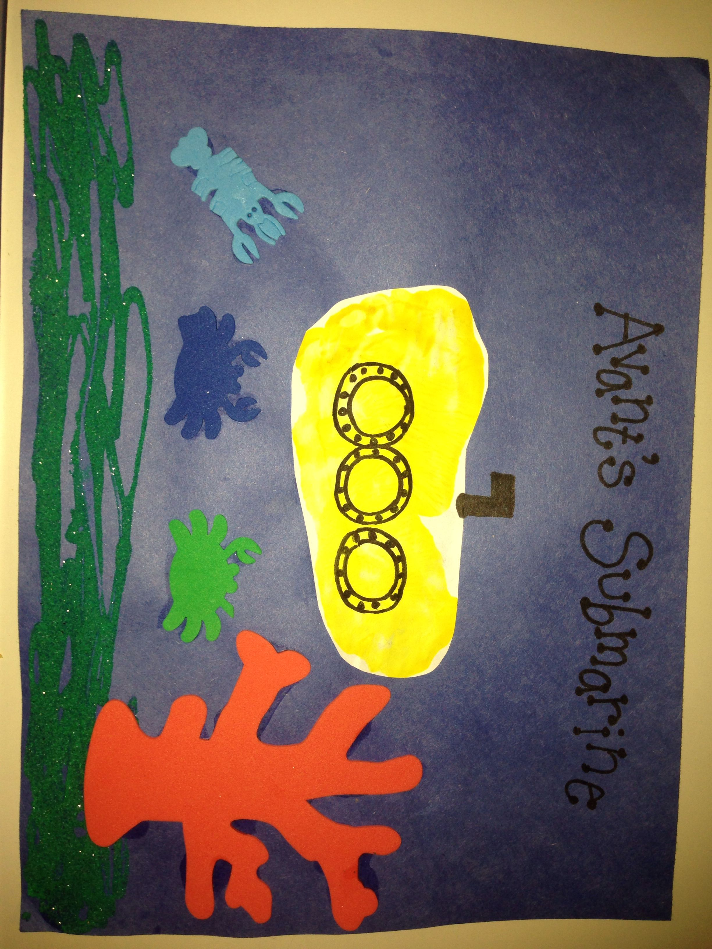 Footprint submarine | bulletin boards by ME! | Pinterest ...