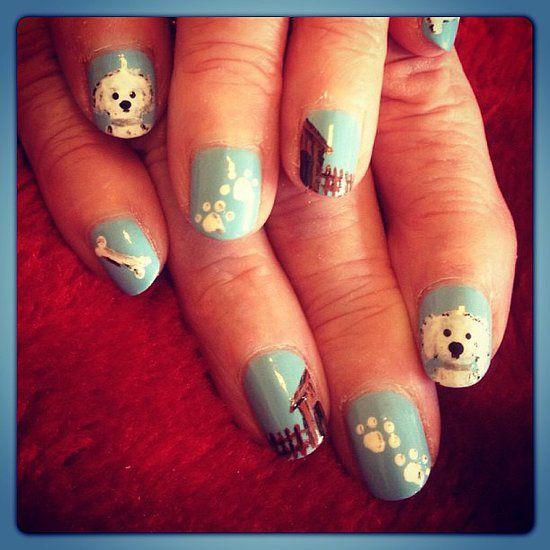Paw print nail art nails pinterest paw print nails nail art paw print nail art prinsesfo Image collections