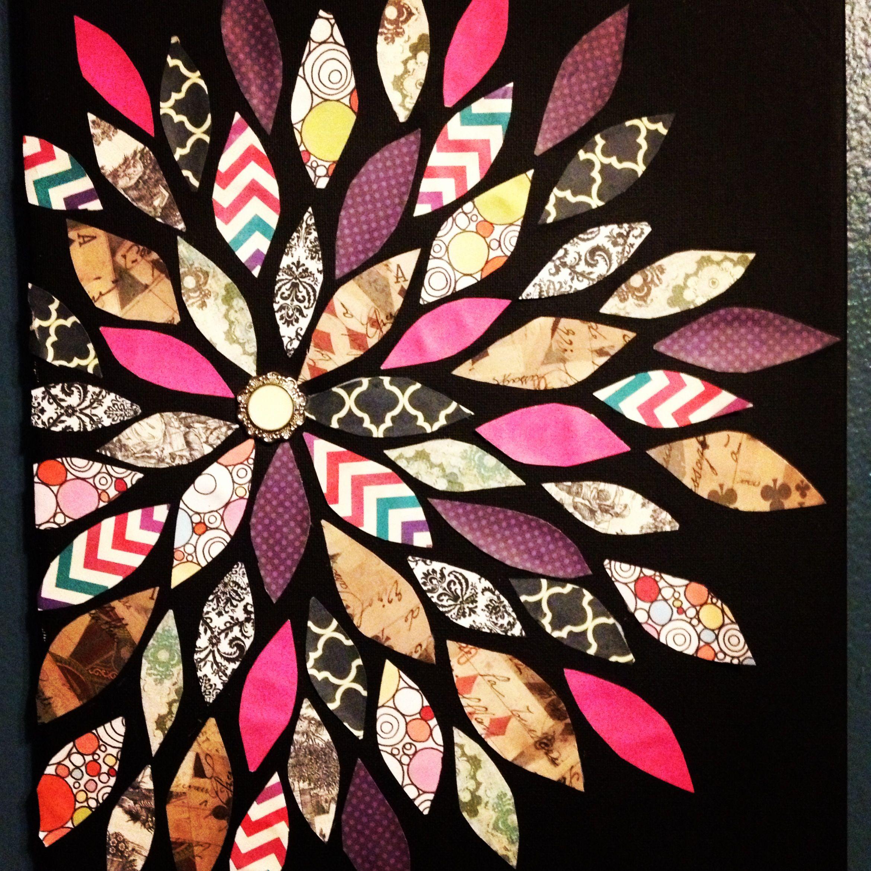 Scrapbook paper art projects - Diy Scrapbook Paper And A Canvas