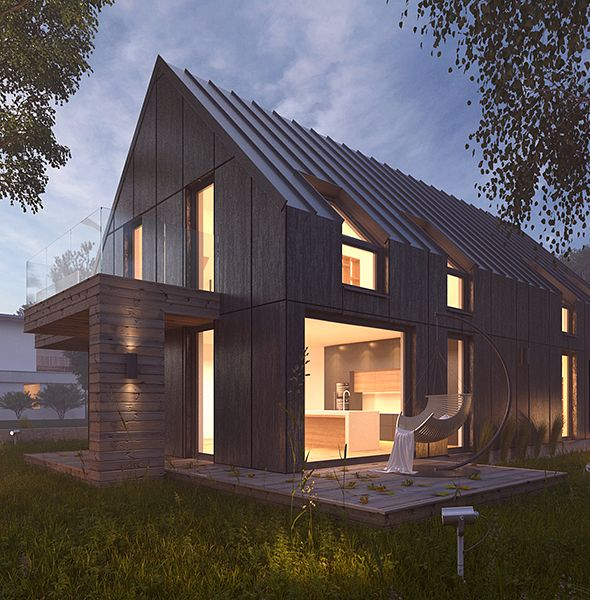 Vray Night Scene Rendering Modern House 3docean Item