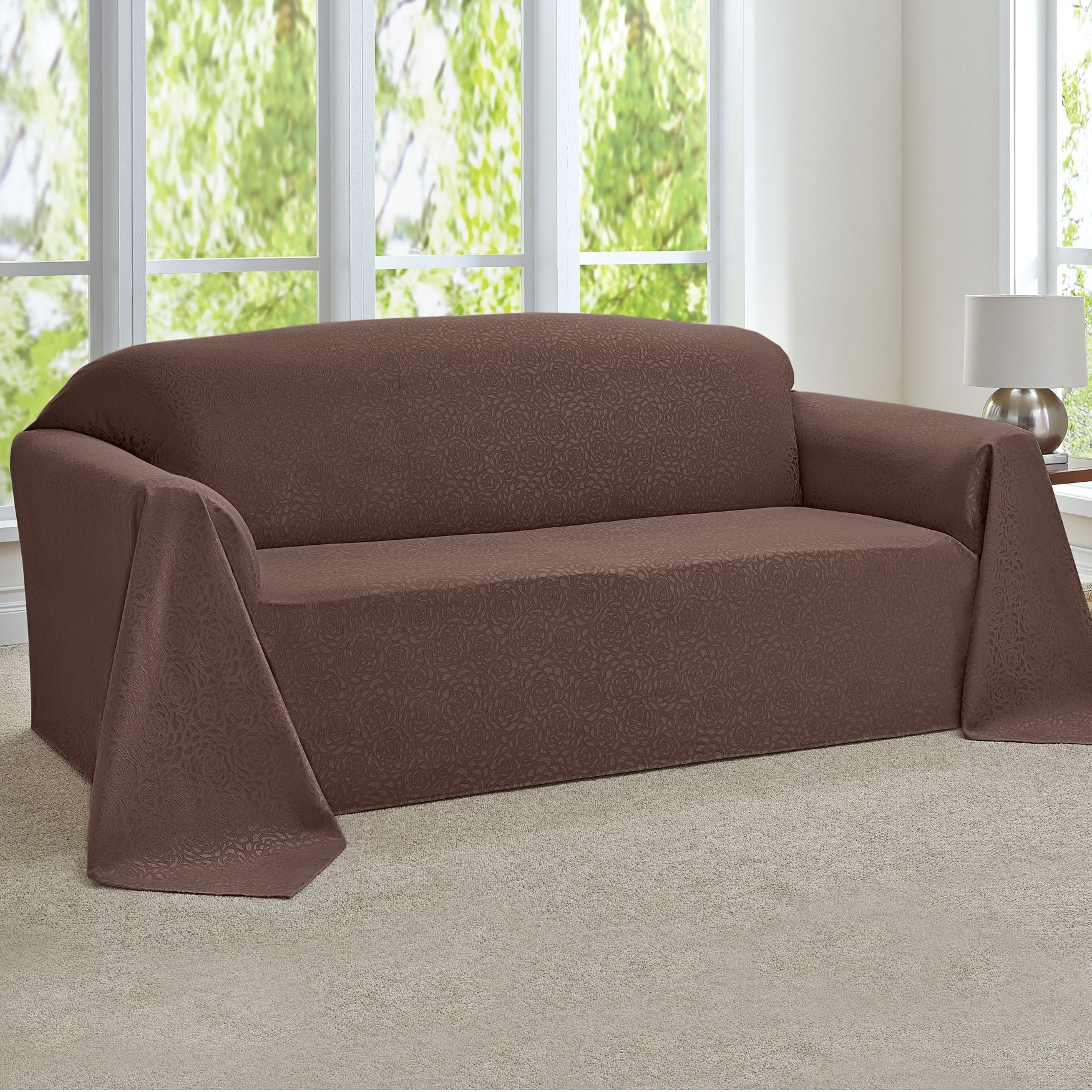Rosanna Jacquard Extra Long Sofa Throw Slipcover