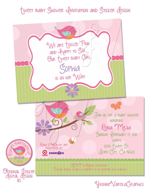 Tweet Baby Girl Baby Shower Invitation. $17.00, via Etsy. | Shower ...