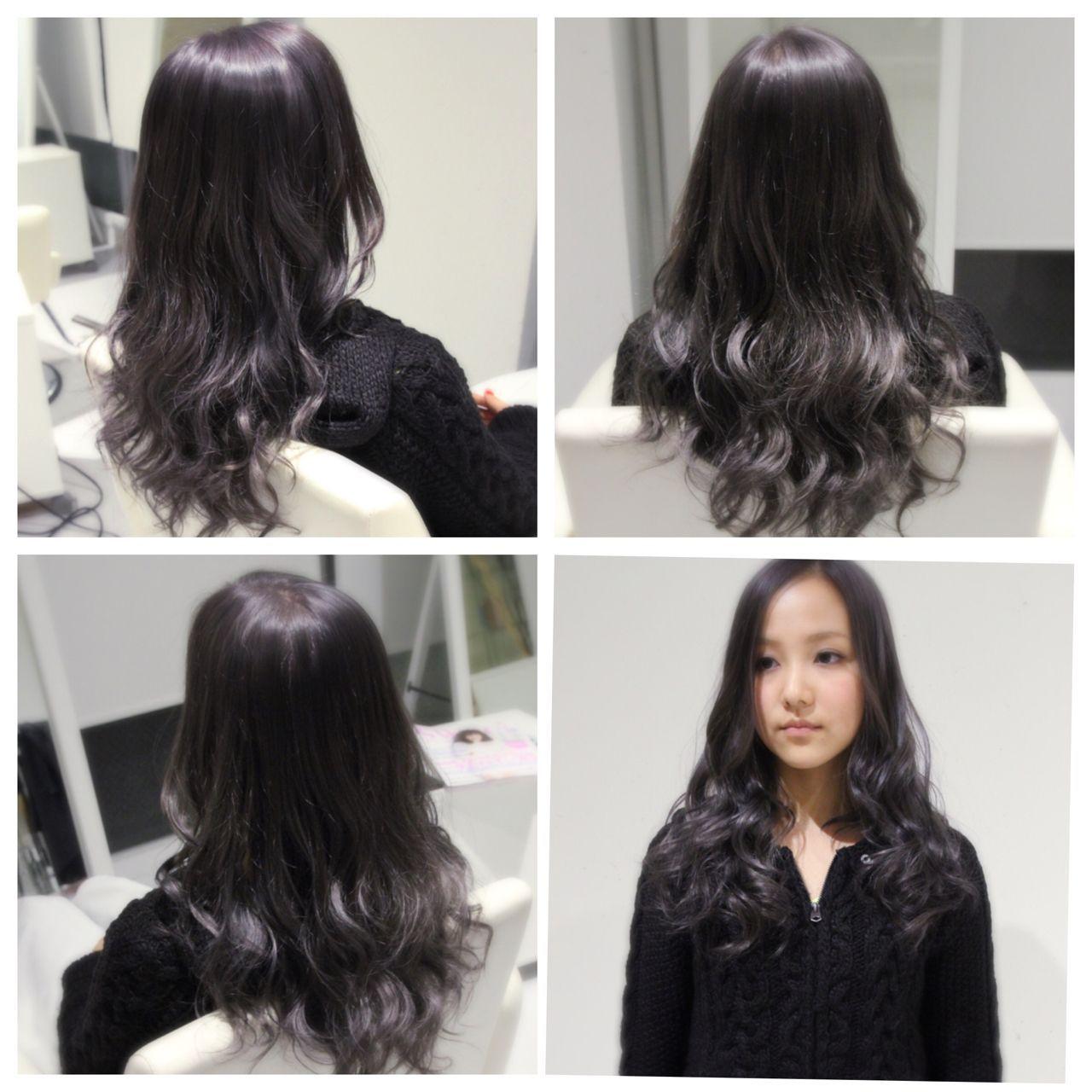暗髪を作るヘアカラー グレーアッシュ バイオレット ネイビー系など