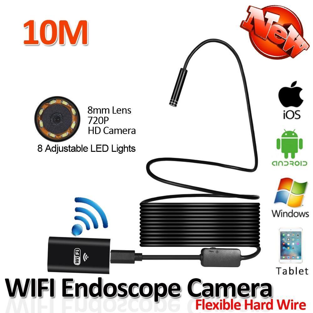 2018 new 8 led flexible usb wifi endoscope camera snake