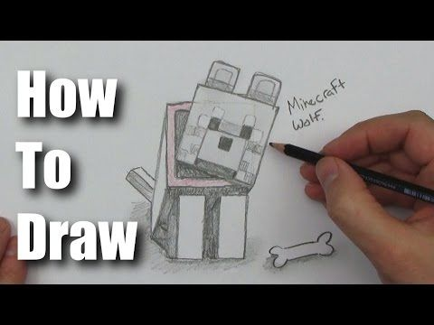 how to draw a wolf from minecraft youtube minecraft minecraft