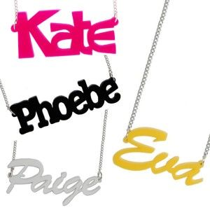 The Name Necklace! Might actually have to get one with my blog name on! #shamelessselfpromotion