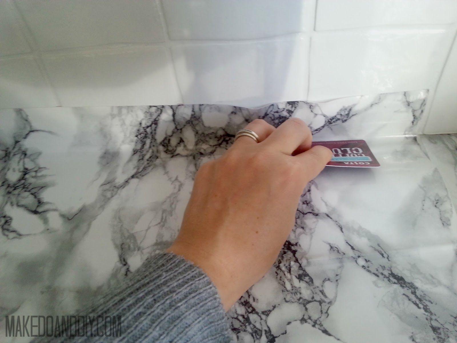 Marble Contact Paper Countertop Diy