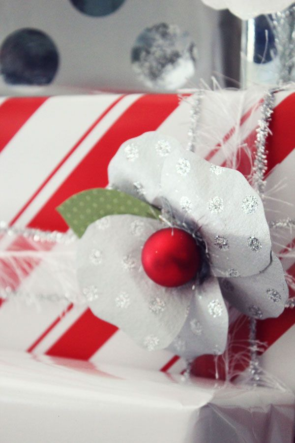DIY Holiday Paper Flowers for Gift Packaging by Icing Designs   Studio DIY