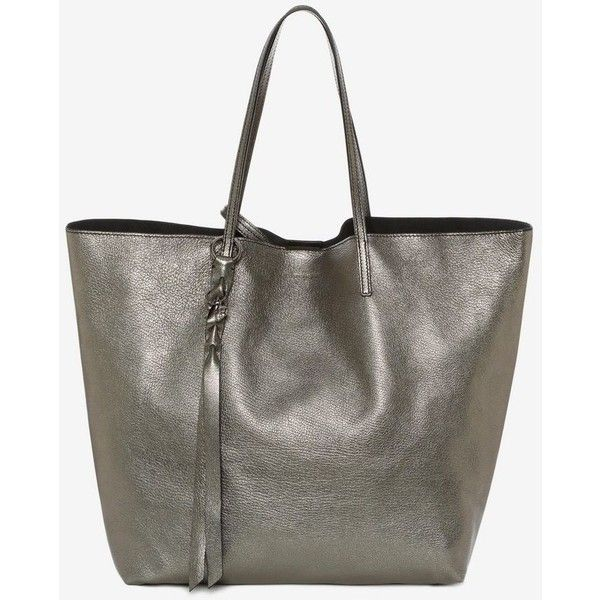 babb6ecb7 Alexander McQueen GRAIN CALF SKULL OPEN SHOPPER ($1,245) ❤ liked on  Polyvore featuring bags