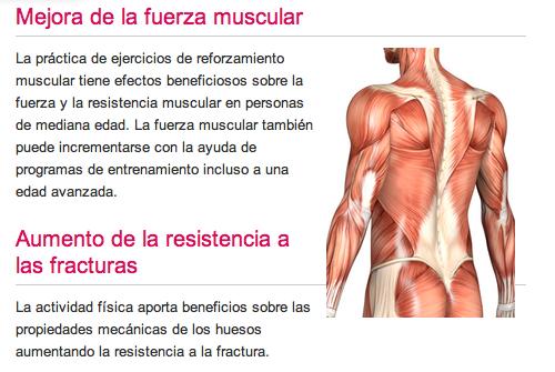 beneficios del ejercicio fisico para los musculos