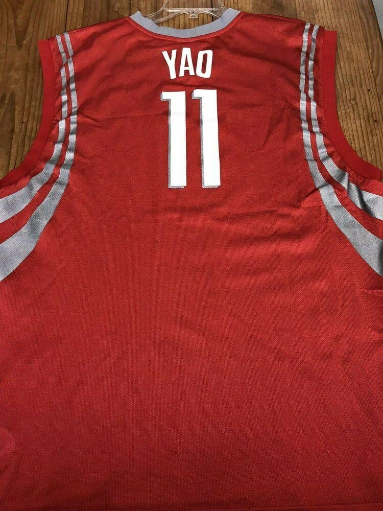 big sale ba94e bfca8 Men's 2XL Yao Ming #11 Houston Rockets NBA Jersey Reebok ...