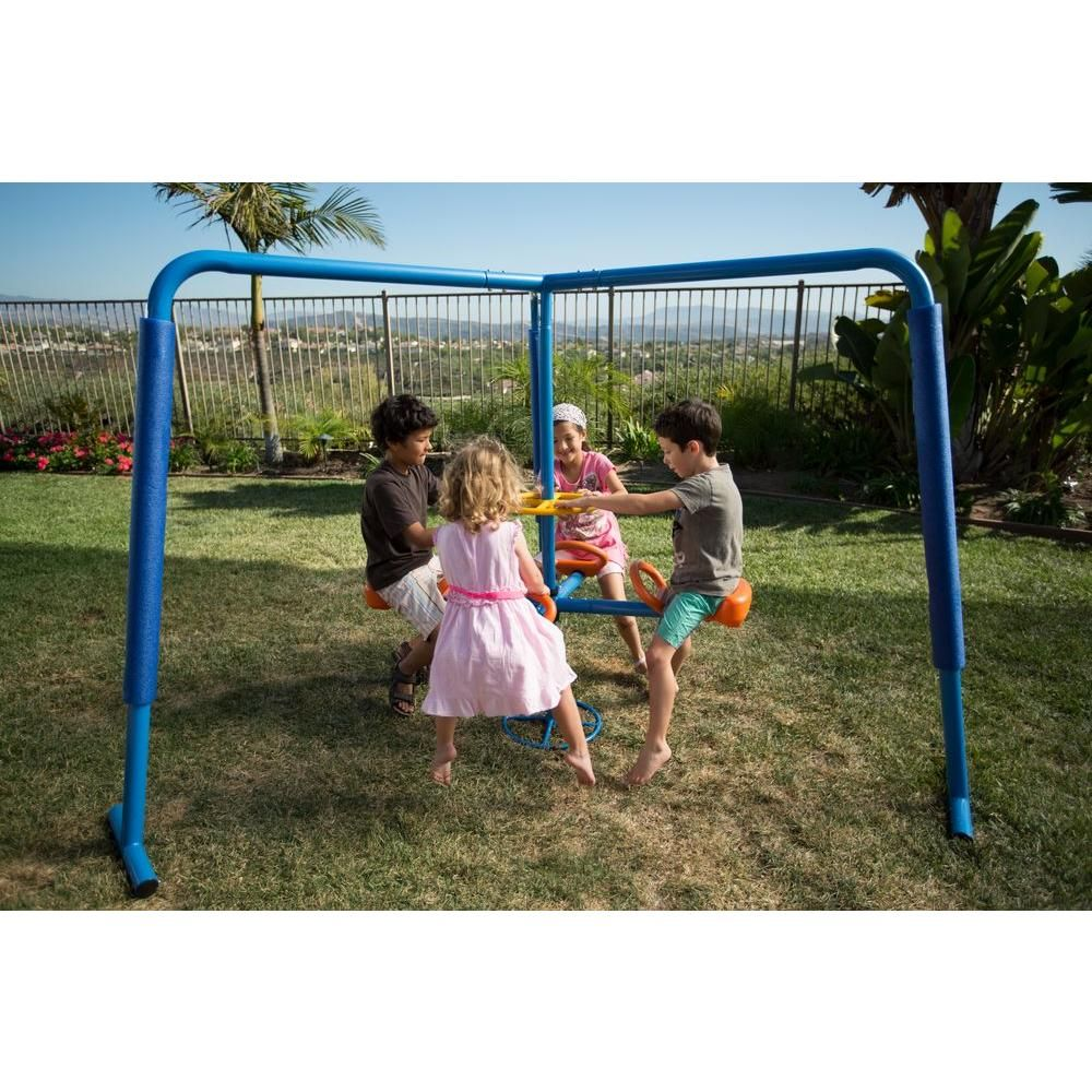 ironkids 4 station fun filled merry go round playset blues