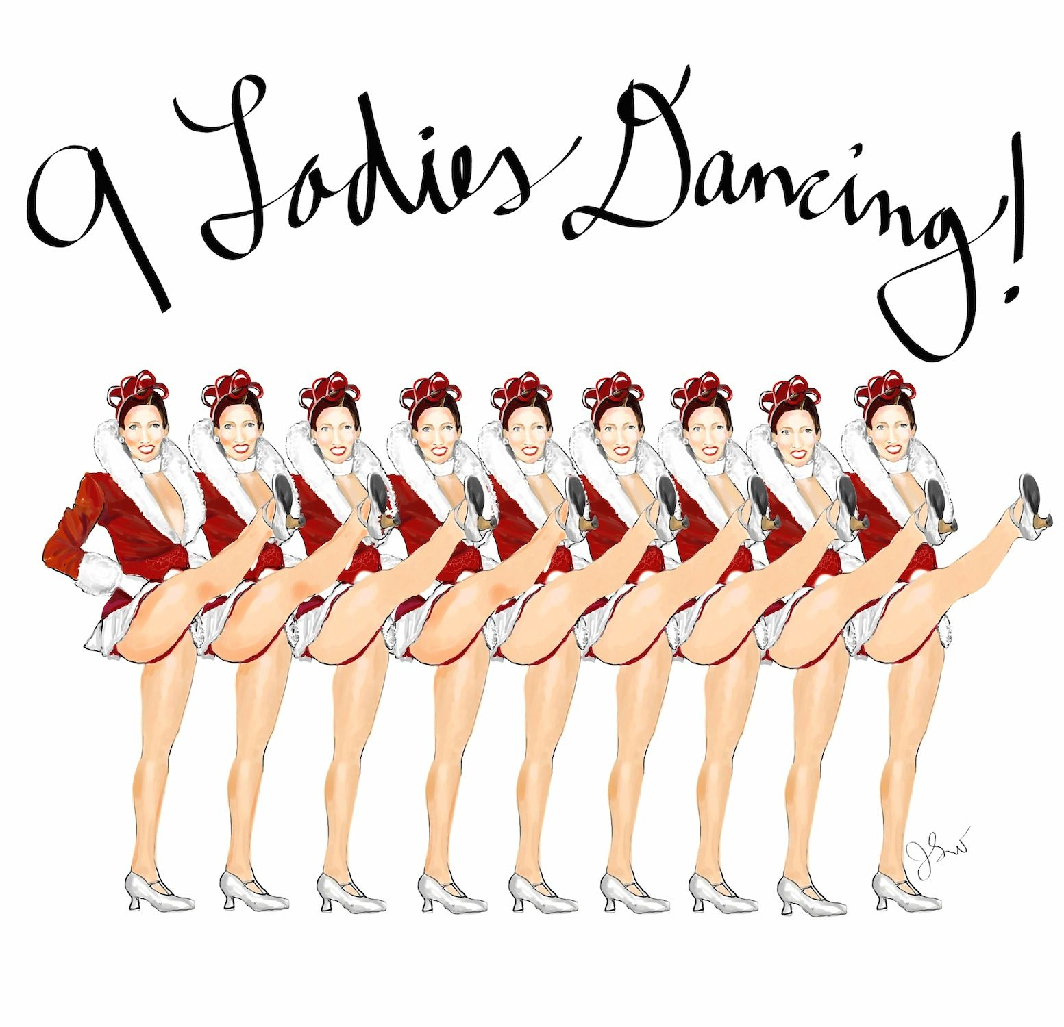 medium resolution of from thefrancofly com s 12 days of christmas 9 ladies dancing radio city rockettes humor christmas carol