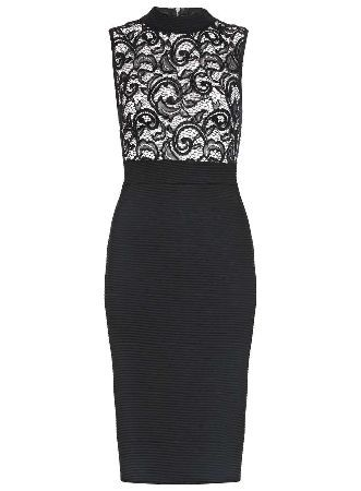 Dorothy Perkins Womens **Quiz Lace Turtle Neck Dress- Black Bodycon dress with lace bodice and turtle neck collar. Length approx 100cm. 95% Polyester,5% Elastane. Machine washable. http://www.MightGet.com/january-2017-13/dorothy-perkins-womens-quiz-lace-turtle-neck-dress-black.asp
