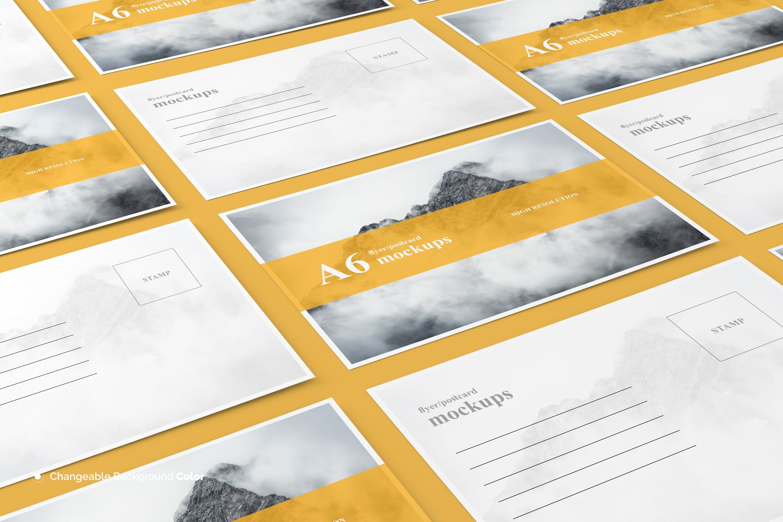 A6 Flyer / Postcard Mockup Postcard mockup, Business