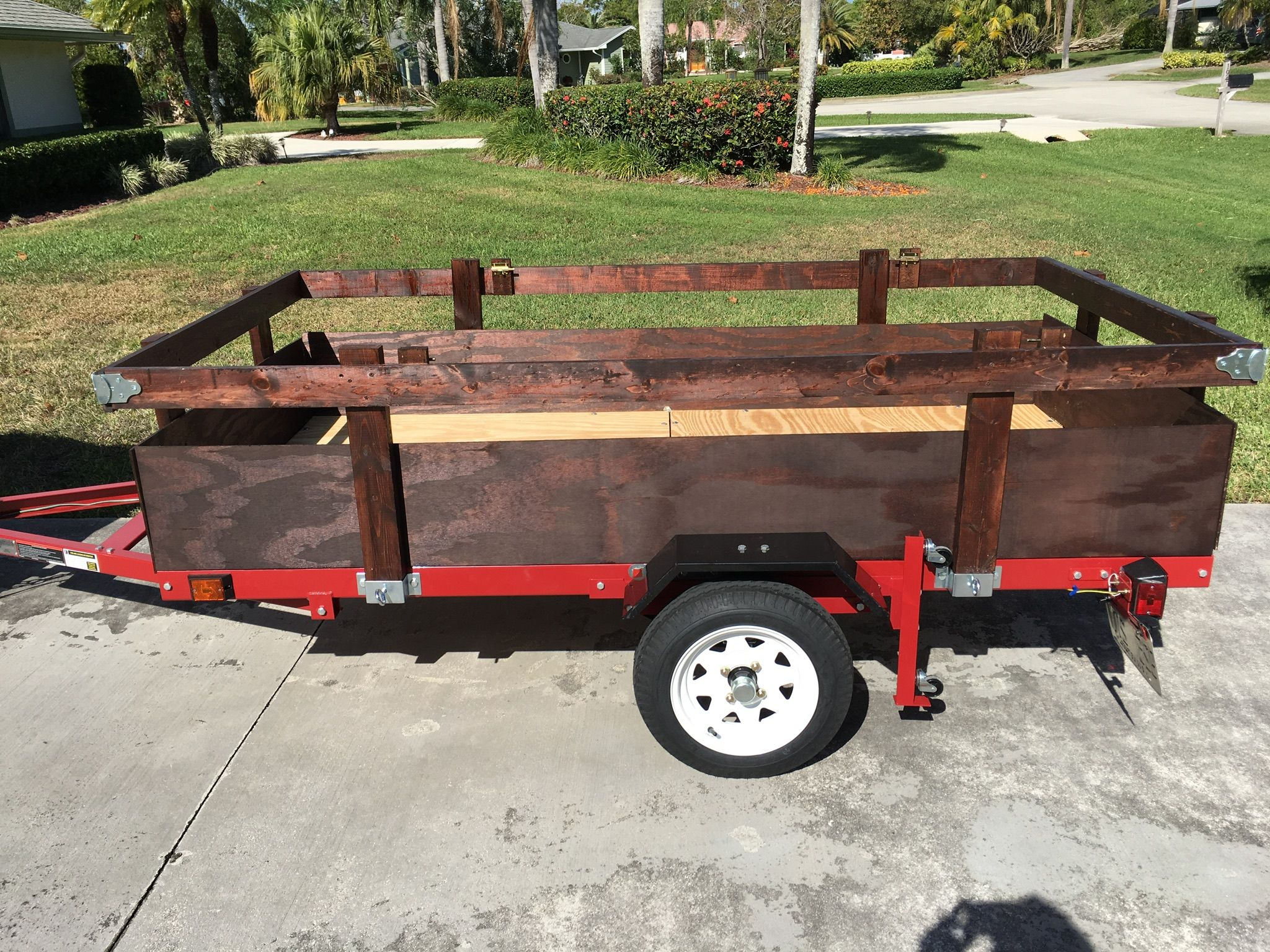My Harbor Freight trailer project finished! I wanted to ensure that no  items would fall