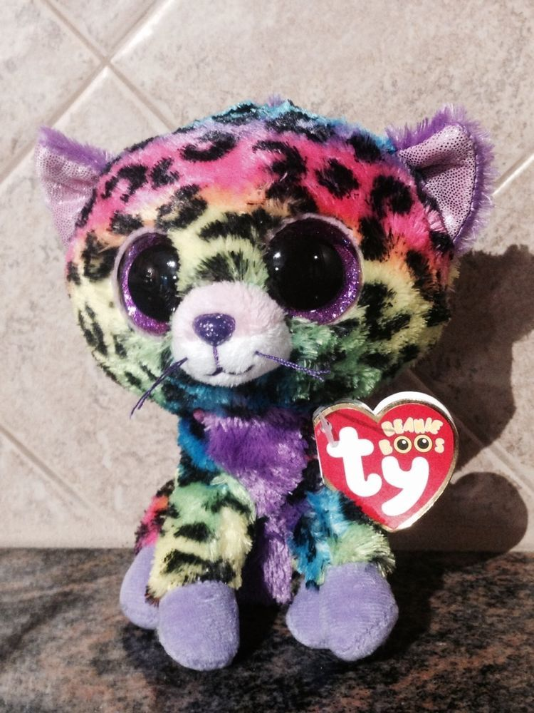 """Ty 6 /"""" Beanie Boos TRIXIE the Leopard NEW w// MINT TAGS  Justice Exclusive"""
