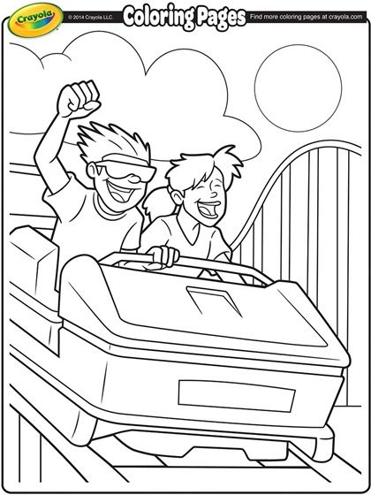 Roller Coaster Coloring Page | Happy National Roller Coaster Day ...