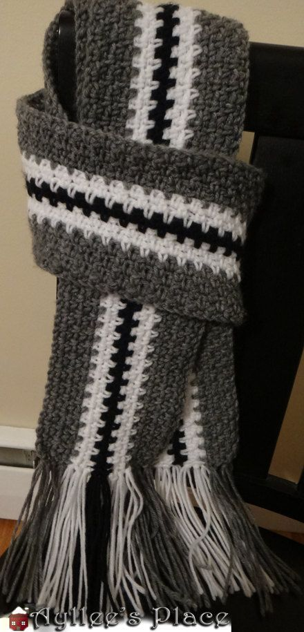 Mens Scarf Crochet Scarf For Men By Aylleesplace On Etsy 2800