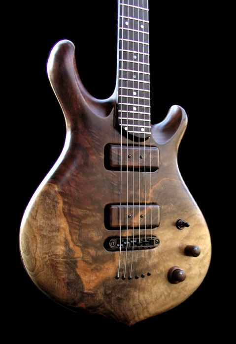 William Jeffrey Jones Guitars Wood Pickup Covers From The Same Piece As The Top Guitar Pickups Cool Guitar Archtop Guitar