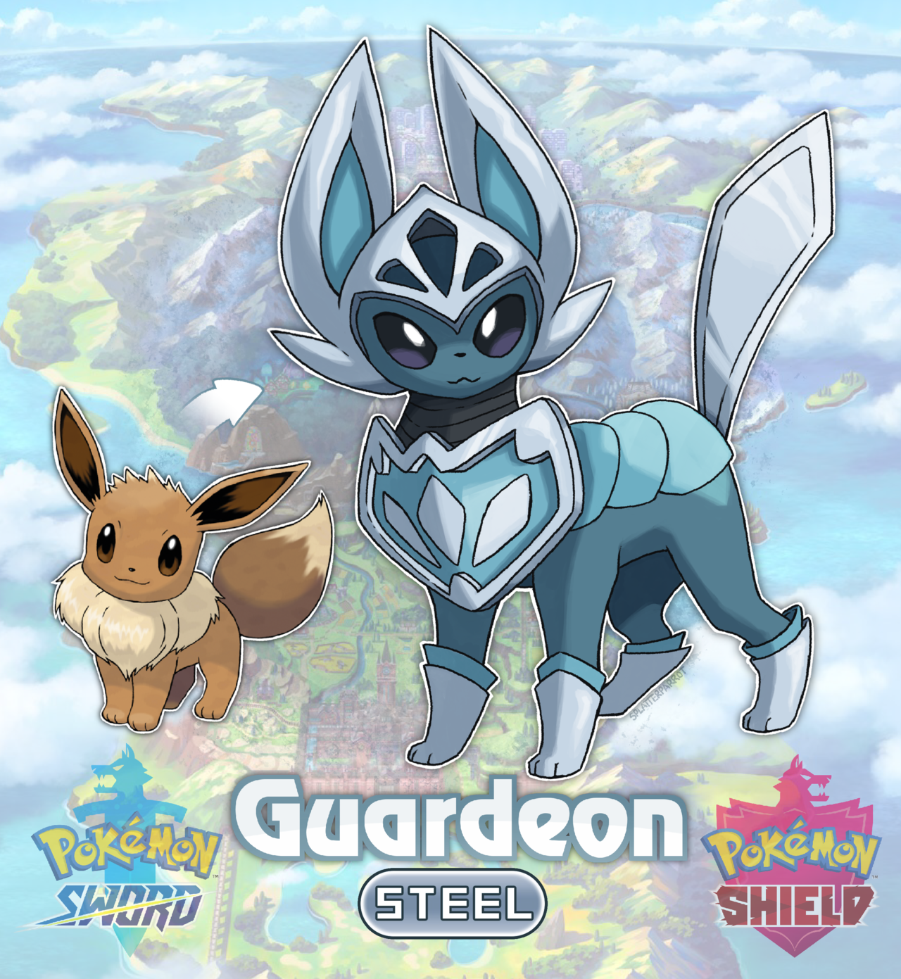 Splatterparrot Introducing The New Armour Pokemon Guardeon Im Really Hoping For A New Eeveelution I Pokemon Eeveelutions Pokemon Pokemon Eevee Evolutions