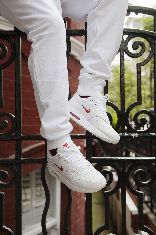 331041b53 Nike Air Max 1 Jewel in Crisp White Red for Summer - EU Kicks  Sneaker  Magazine