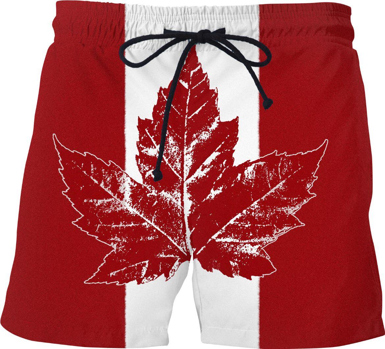 cool canada shorts canada flag swim trunks kim hunter
