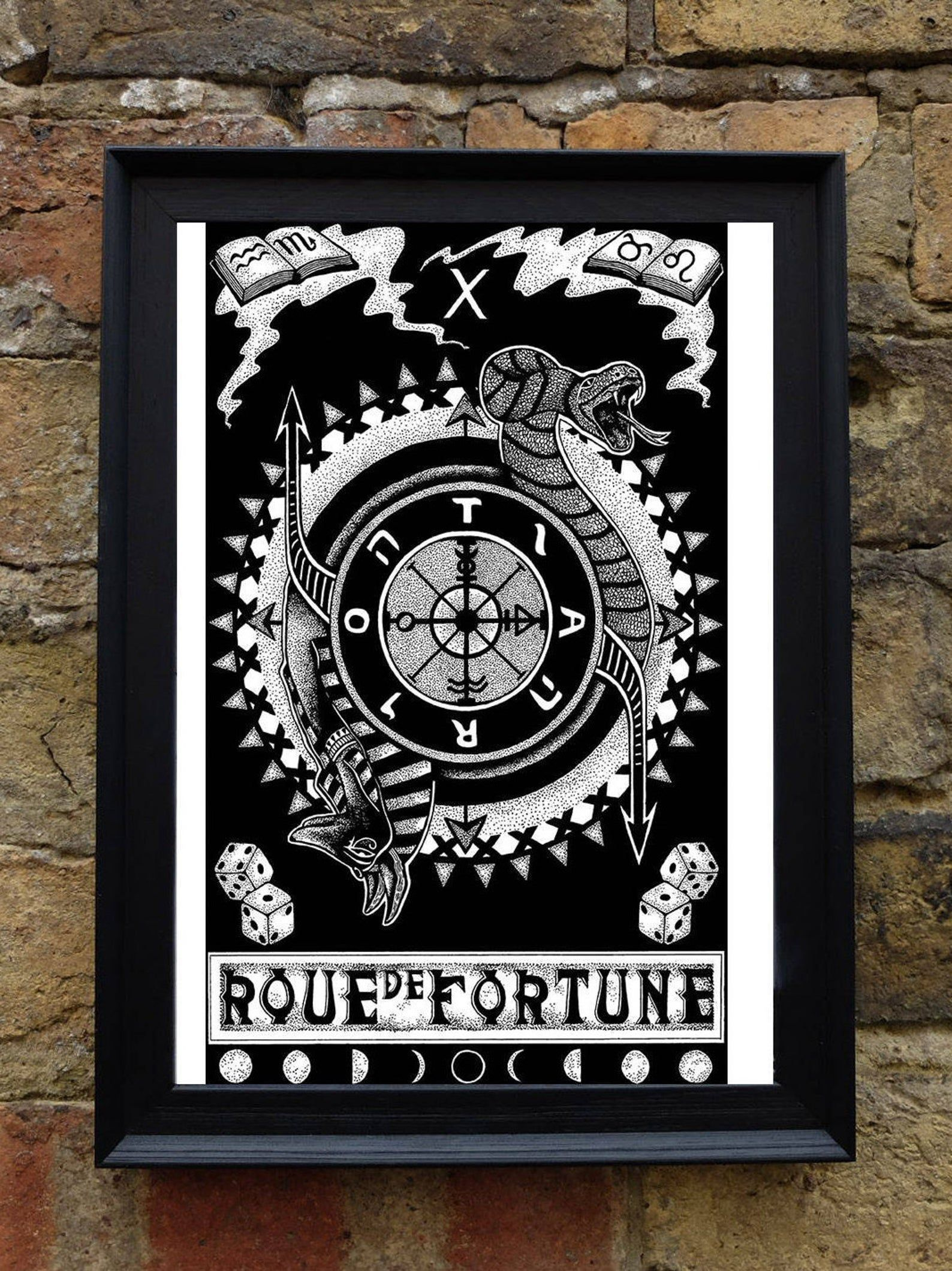 Set of 6 a4 illustrated tarot card style prints etsy in