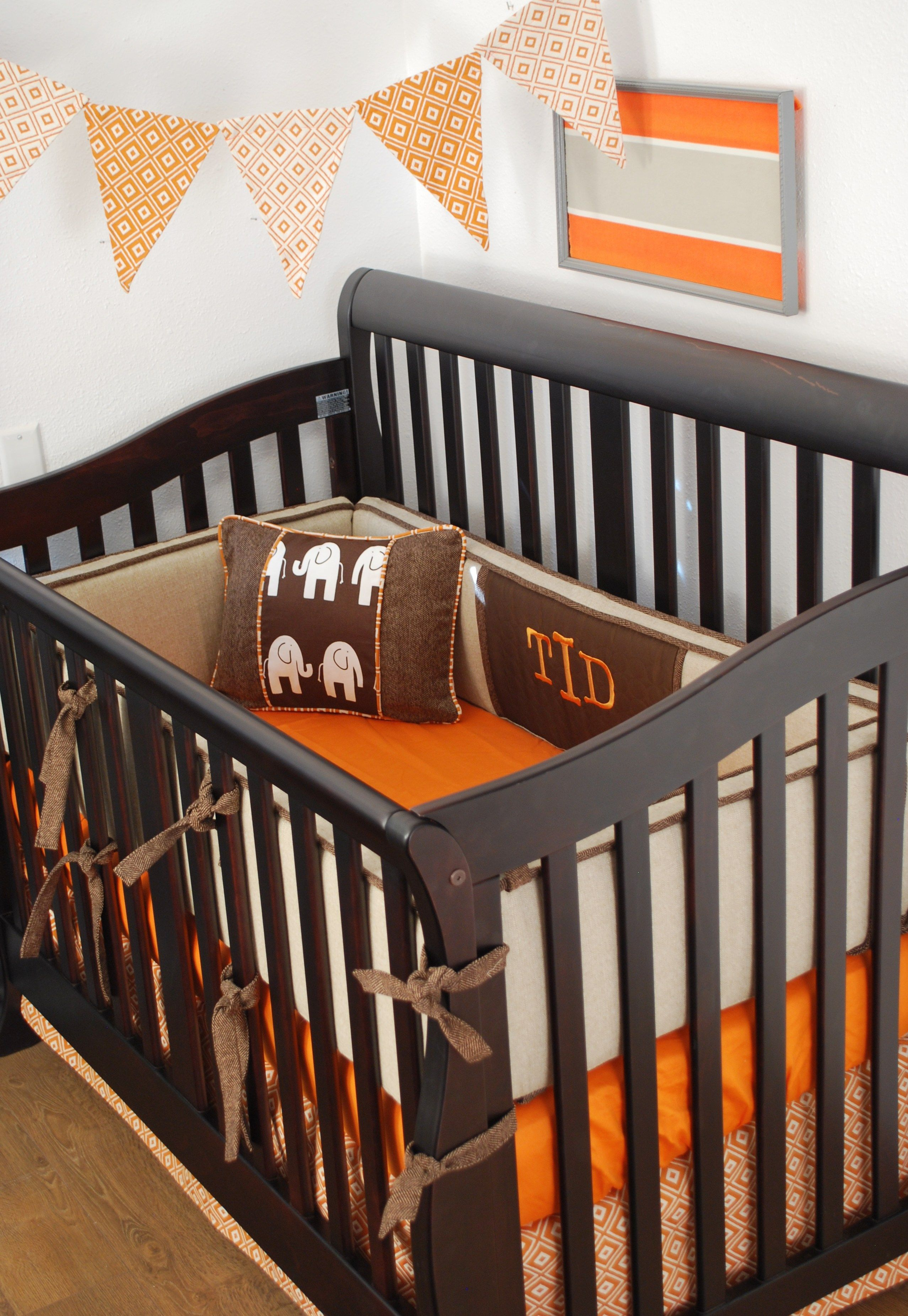 Rustic Crib Bedding With Burlap And Brown Fabrics And
