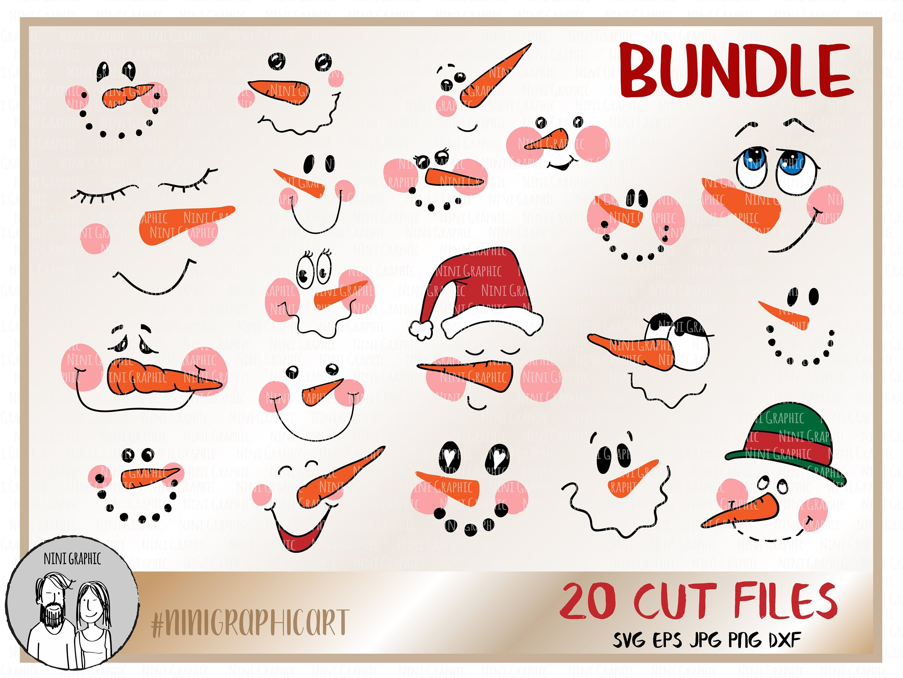 image 0 Snowman faces, Christmas svg, Christmas svg files